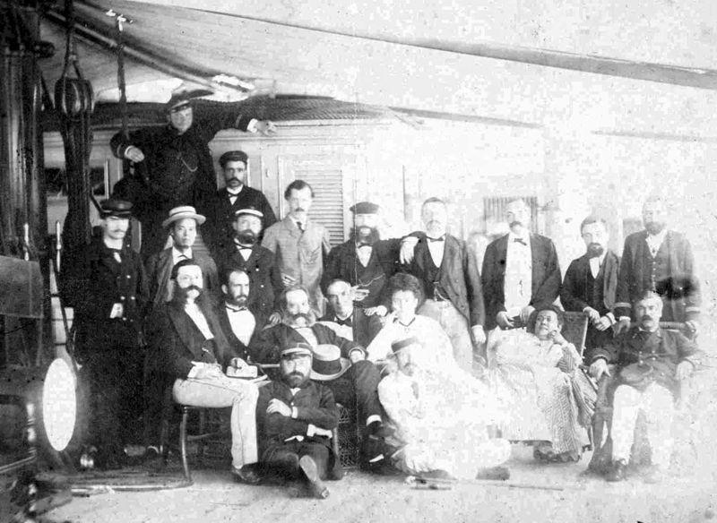 André et Angot sur le bateau pour Nouméa, 1874 f17754afeaab